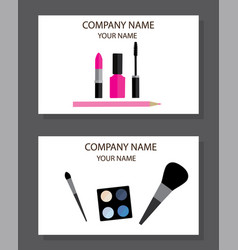 Business cards make up vector