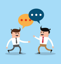 business mens talking vector image