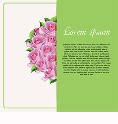 Card for text with roses vector
