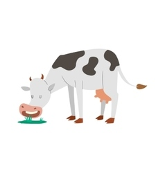 Cartoon cow character isolated vector