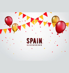 celebration spain garland flag and balloons vector image