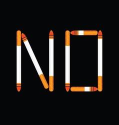 Cigarette no color vector