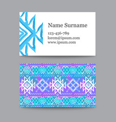 Collection of ethnic business cards vector