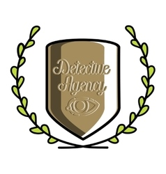 Color vintage detective agency emblem vector
