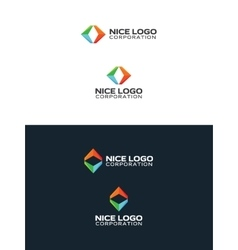 Colored arrows travel logo vector