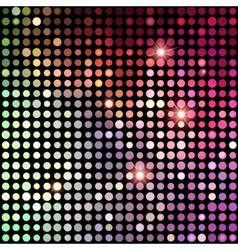 Colorful Dots Abstract Disco background vector image