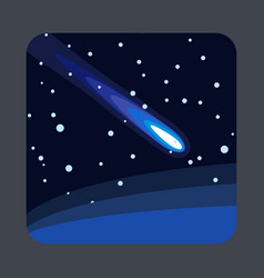 comet light concept background cartoon style vector image