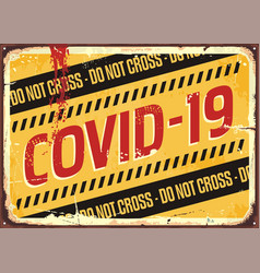 Corona virus warning sign vector
