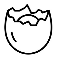 Cracked eggshell icon outline style vector