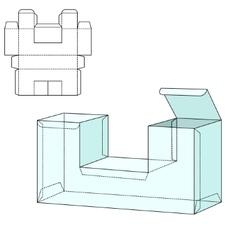 Diecut craft box a vector