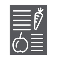 diet plan glyph icon health and meal balanced vector image