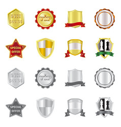 Emblem and badge icon set vector