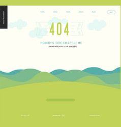 error web page template - lanscape with mountains vector image