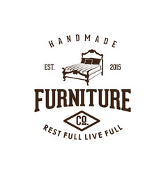 Furniture icon in vintage style logo design vector