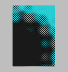 Geometric abstract halftone dot pattern flyer vector
