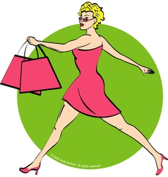 Girl shopping vector