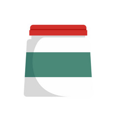 Glue jar icon flat style vector