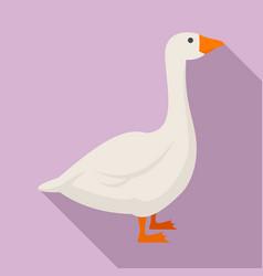 Goose bird icon flat style vector