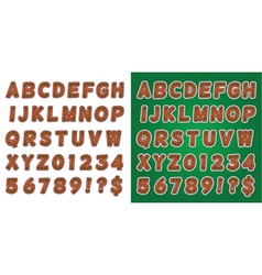Green and Red Candy Cane Alphabet vector