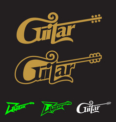 guitar word mark symbol conceptual vector image