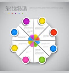 Headline infographic chart pie diagram design vector
