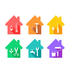 House and maintenance concept vector