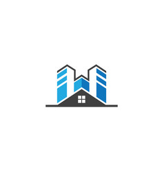 house building real estate business logo vector image