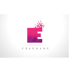 ie i e letter logo with pink purple color and vector image