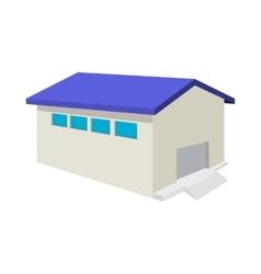 Industrial warehouse with roller door cartoon icon vector