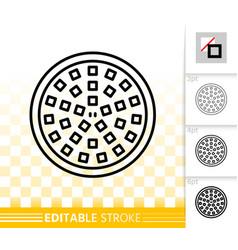 led light bulb simple black line icon vector image