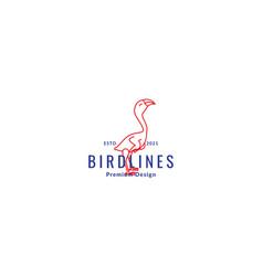 Lines simple bird vulture logo symbol icon vector