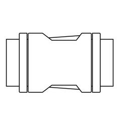 Locked black plastic buckle on strap icon vector