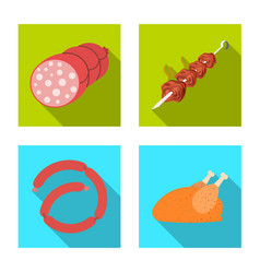 meat and ham symbol set of vector image