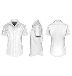 Mens short sleeve shirts vector