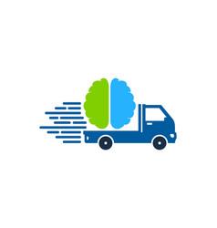 mind delivery logo icon design vector image