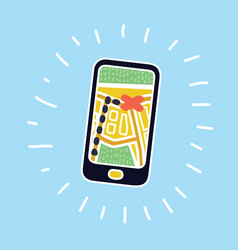 mobile navigation icon vector image