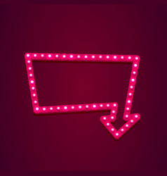 neon open frame arrow vector image