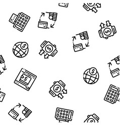 online transactions seamless pattern vector image