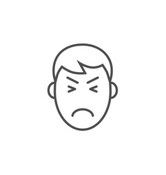 pain hesad related thin line icon vector image