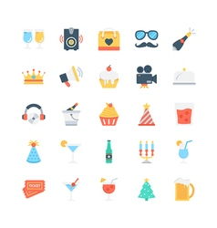 Party and Celebration Icons 1 vector image