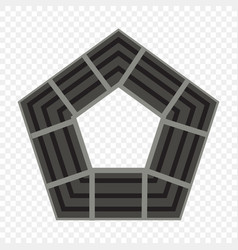 pentagon icon geometry pentagonal five-sided vector image