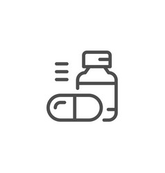 Pills line icon vector