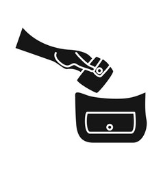 Pocket and theft sign vector