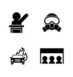 protest strike people simple related icons vector image