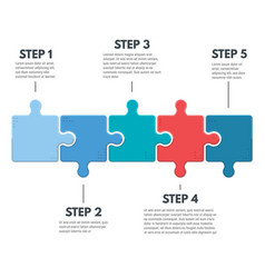 Puzzle infographic steps vector