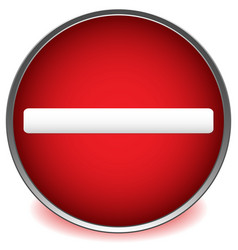 Red prohibition restriction road sign on white vector