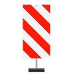 Road signs red badge guardrails vector