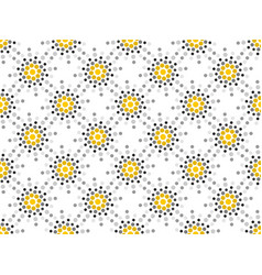 seamless pattern black and yellow dots dotted pop vector image