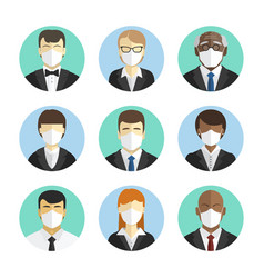 set avatars people office workers in vector image