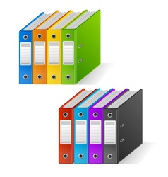 Set of colorful ring binders rainbow vector